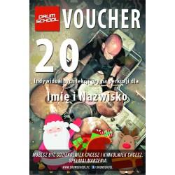 Voucher - 20 lekcji gry na perkusji
